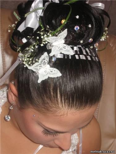 много бабочек фото для свадебной прически